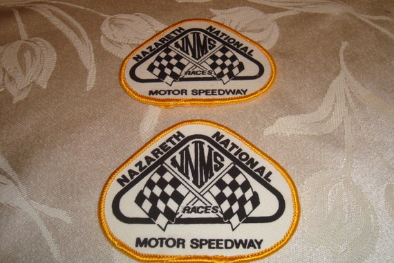 Item is on Sale.  2 Vintage Nazareth Motor Speedway Patches