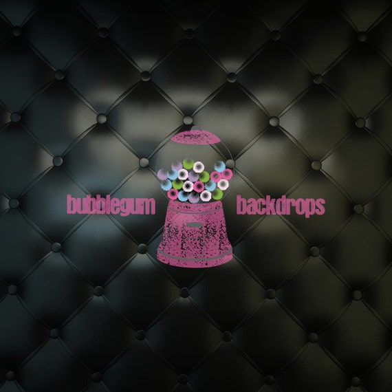"""Black Leather Cushion - 84"""" x 72"""" Vinyl Photography Backdrop Prop Boudoir Portrait"""