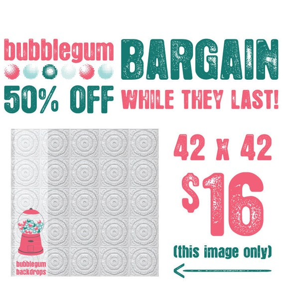 "BARGAIN for ERIN- 50% OFF - 60"" x 60""  - Quantities limited"