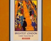Brightest London Underground Subway Poster, 1924 - 8.5x11 Poster Print - also available in 11x14 and 13x19 - see listing details