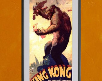 King Kong, 1933 - 8.5x11 Poster Print - other sizes available - see listing details