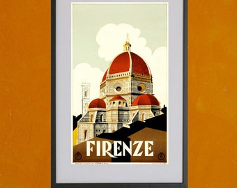 The Duomo in Florence, 1930 - 8.5x11 Poster Print - also available in 13x19 - see listing details
