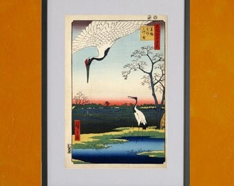 Mikawa Island by Hiroshige, 1857 - 8.5 x 11 Poster Print - also available in 13x19 - see listing details
