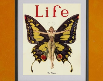 The Flapper - Life Magazine Cover, 1922 -  8.5x11 Poster Print - also available in 13x19 - see listing details
