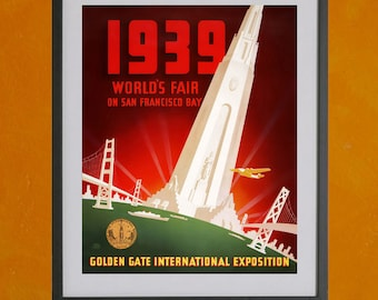 San Francisco World's Fair, 1939 - 8.5x11 Poster Print - also available in 13x19 - see listing details