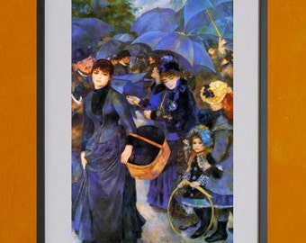 Umbrellas by Renoir, 1886 - 8.5x11 Poster Print - also available in 13x19 - see listing details