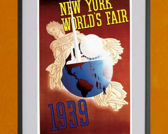New York World's Fair, 1939 - Print 1- 8.5x11 Poster Print - also available in 13x19 - see listing details