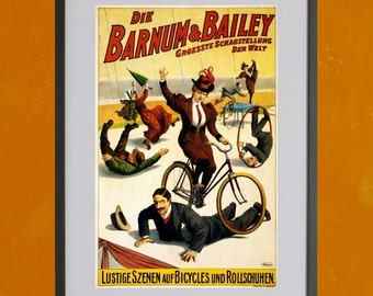 Barnum & Bailey Circus Poster, German Version- 8.5x11 Poster Print - also available in 13x19 - see listing details