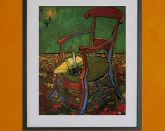 Paul Gauguin's Armchair  by Vincent Van Gogh, 1888 - 8.5x11 Poster Print - also available in 13x19 - see listing details