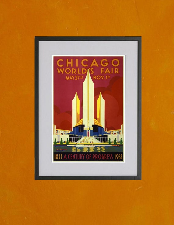 Chicago World's Fair, 1933 - 8.5x11 Poster Print - also available in 11x14 and 13x19 - see listing details
