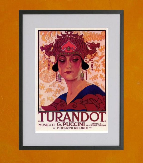 Turandot by Puccini - Performance Poster, 1926 - 8.5x11 Poster Print - also available in 13x19 - see listing details