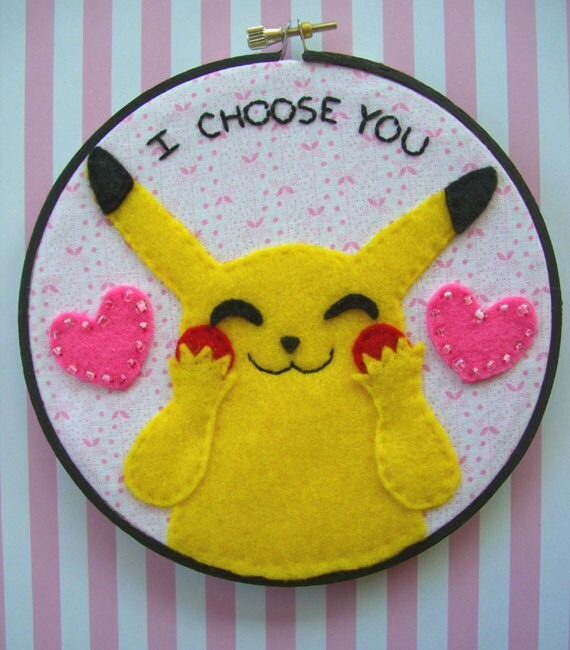 Pikachu I Choose You--Embroidery Hoop 6 inches