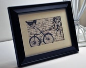 Vintage French Bicycle, Bird Print by Vintage Dandelions on Etsy