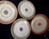 Iron Mountain Stoneware Saucer set of 4, Vintage collectible pottery