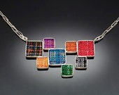 Pendant Necklace with 8 squares