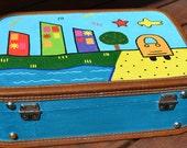Children's Handpainted Suitcase