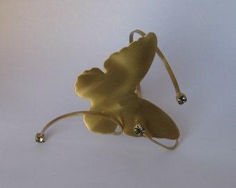 "Bronze Bracelet - Gold plated ""BUTTERFLY""  By Fysalides"