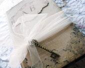 Wedding Guest Book Custom in Beautiful bespoke vintage inspired brown paper style