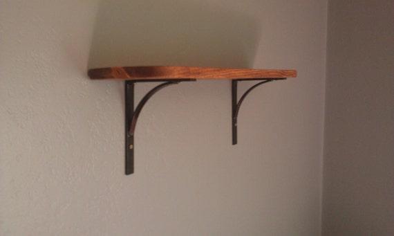 Decorative Wall Shelf With Iron Brackets All By