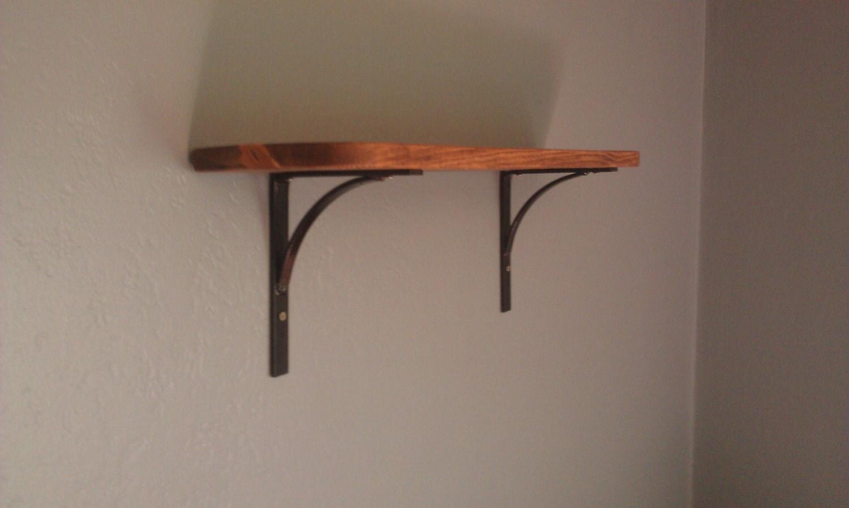 Decorative Wall Shelf with Iron Brackets all by ...