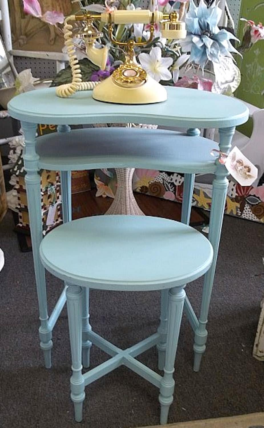 Darling Antique Telephone Table & Chair By