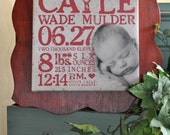 "26""x26"" Custom Baby Subway Canvas with Frame"