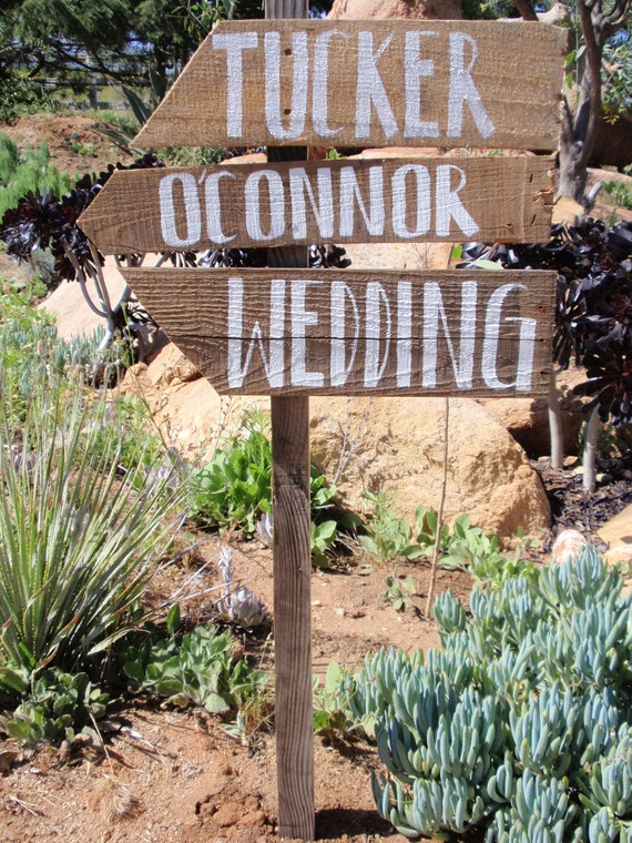 Up-cycled Hand Painted Rustic Wedding Sign