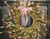 Spring Wreath - Pink Grapevine Twig
