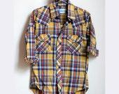 RESERVED American Shirtmakers plaid shirt - small/medium