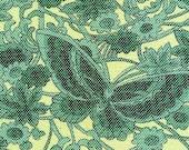 "Fantasy Butterfly Vintage Recycled Kimono Silk Panel -- 14"" x 78"""