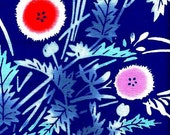 Abstract Poppies Old-stock Yukata Cotton