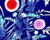 Abstract Poppies Old-stock Yukata Cotton