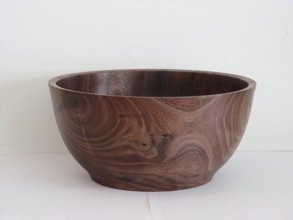 Wood Bowl: Hand Turned Wooden Bowl of Black Walnut Wood