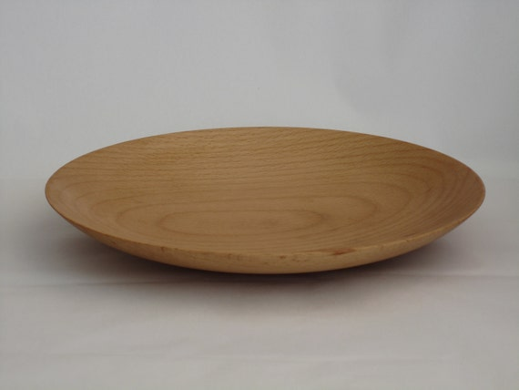 Wooden Plate: Hand Turned Beech Wood Plate