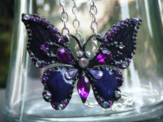 OOAK Vintage Butterfly Necklace