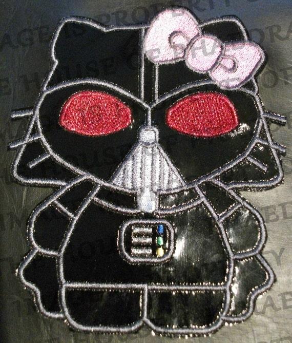 Star wars hello kitty darth vader machine embroidery design - Dark vador hello kitty ...