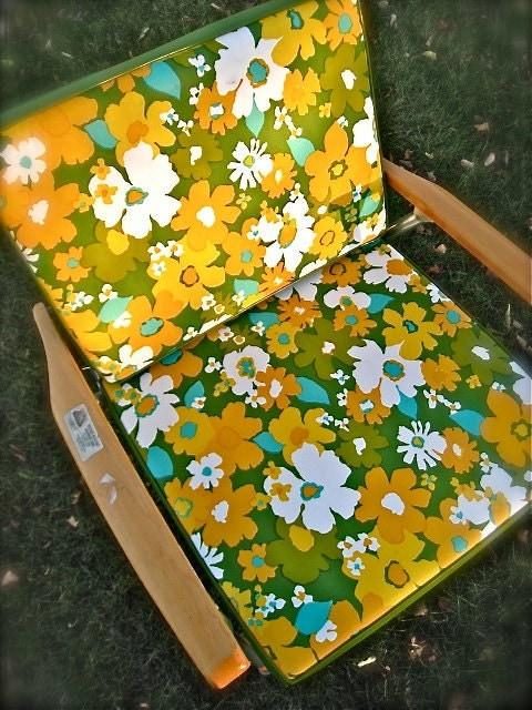 Vintage Lawn Chair Folding Chair Portable Beach Chair