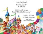 Candyland Invitation Digital Design