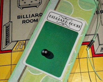 Recycled Laminated Bookmark - Clue Game Billiard Room Card
