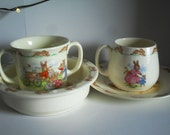 4 piece Set : Peter Rabbit Cup/ Saucer and Mug/ Plate