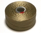 Ash C-Lon Beading Thread, Size D, 1 Bobbin of 78 Yards, Item 622