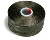 Chocolate C-Lon Beading Thread, Size D, 1 Bobbins of 78 Yards, Item 467