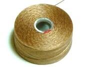 Light Brown C-Lon Beading Thread, Size D, 1 Bobbin of 78 Yards, Item 589