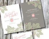 Printable Wedding Invitation Suite - Includes Save the Date, Invitation, Response and Thank You card
