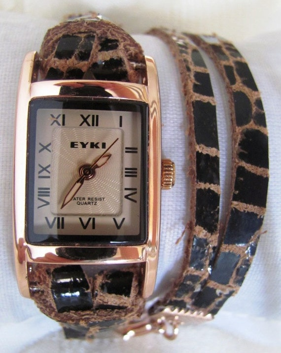Stylish Lady Wrist Watch With A Unique Leather Band. 30% Off - 59 Dolars Only. FREE SHIPPING