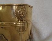 RESERVED for C: Antique Brass Planter. Vintage Hollywood Regency. Second of set.