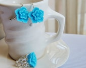 Romantic earrings and ring