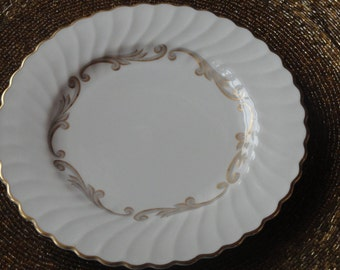 """Vintage Syracuse Baroque Gray/Gold Scrolls  bread and butter plate 6 3/8"""""""