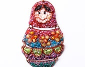 Russian Doll Beaded Necklace