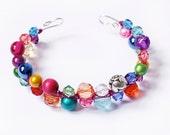 Beaded Colourful Cuff Bracelet